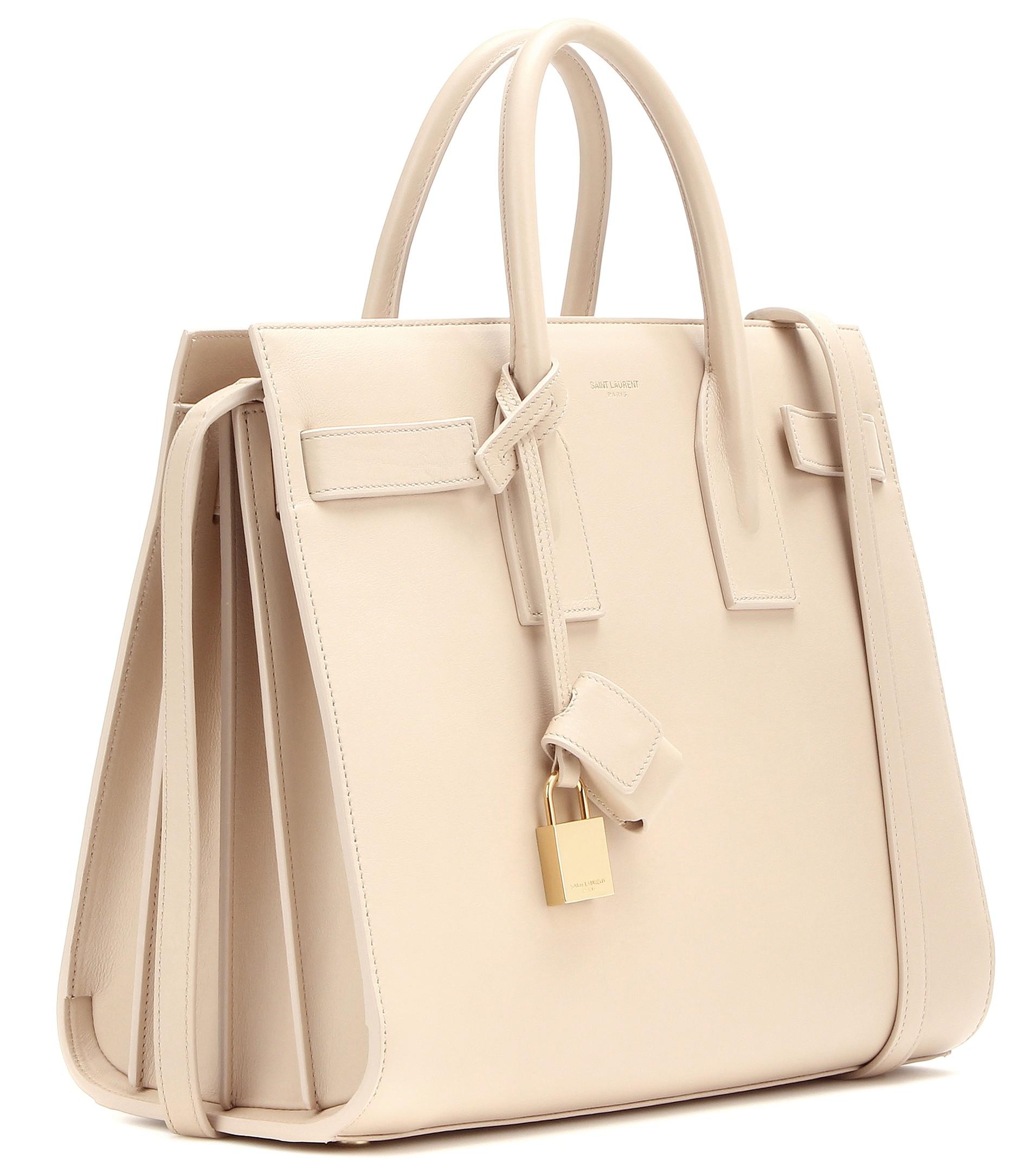 ysl logo bag - sac de jour small satchel bag, taupe