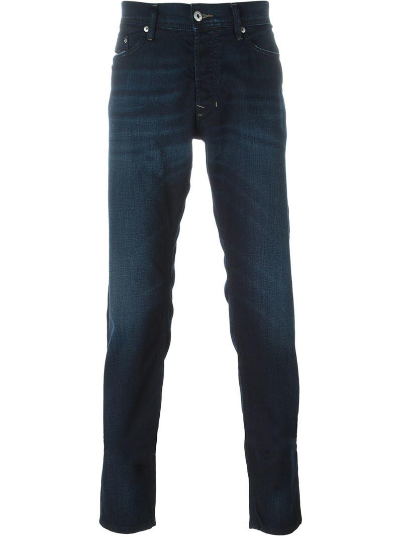 diesel slim fit jeans in blue for men lyst. Black Bedroom Furniture Sets. Home Design Ideas