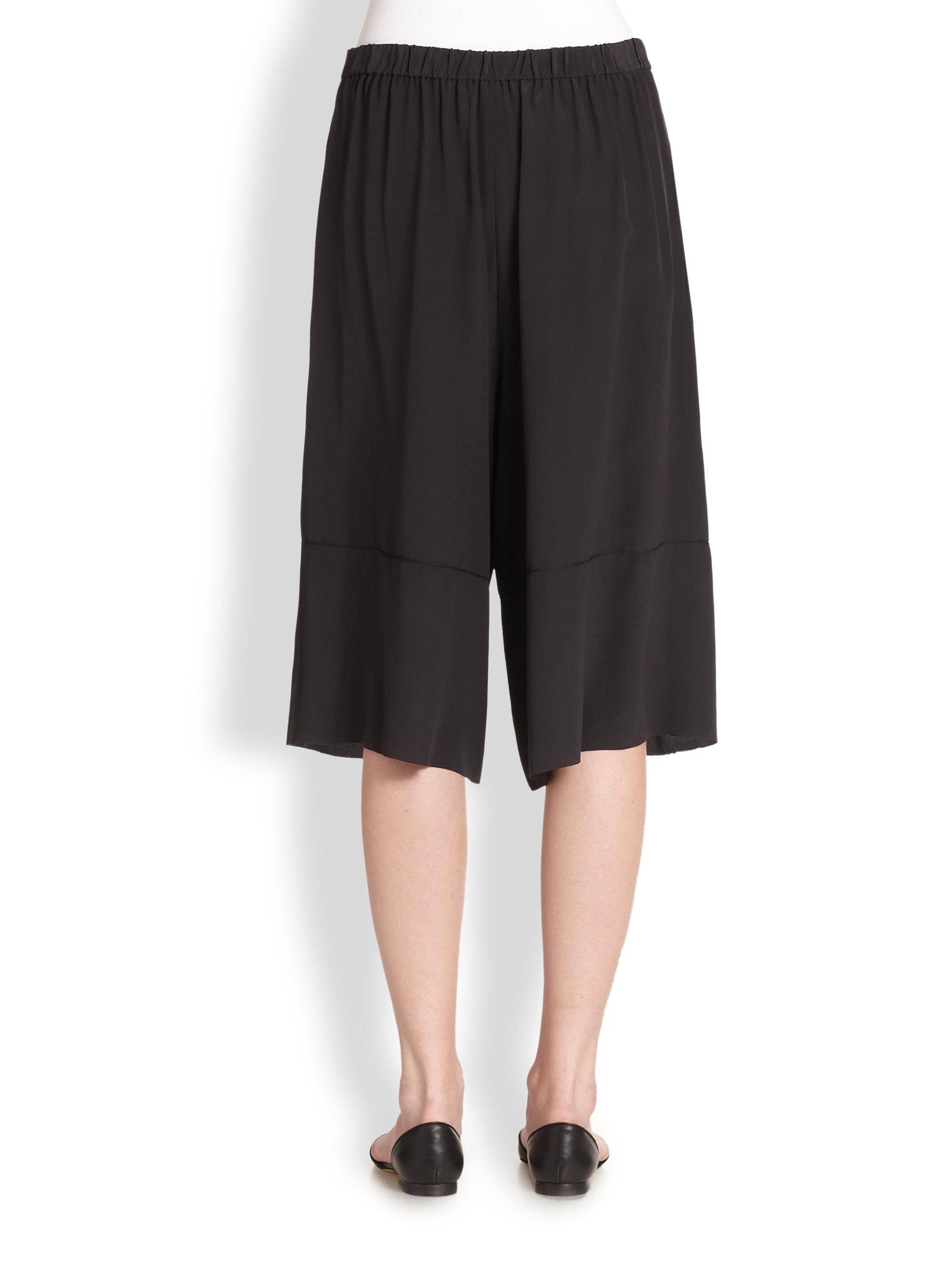 Lyst The Row Anissa Silk Palazzo Pants In Black