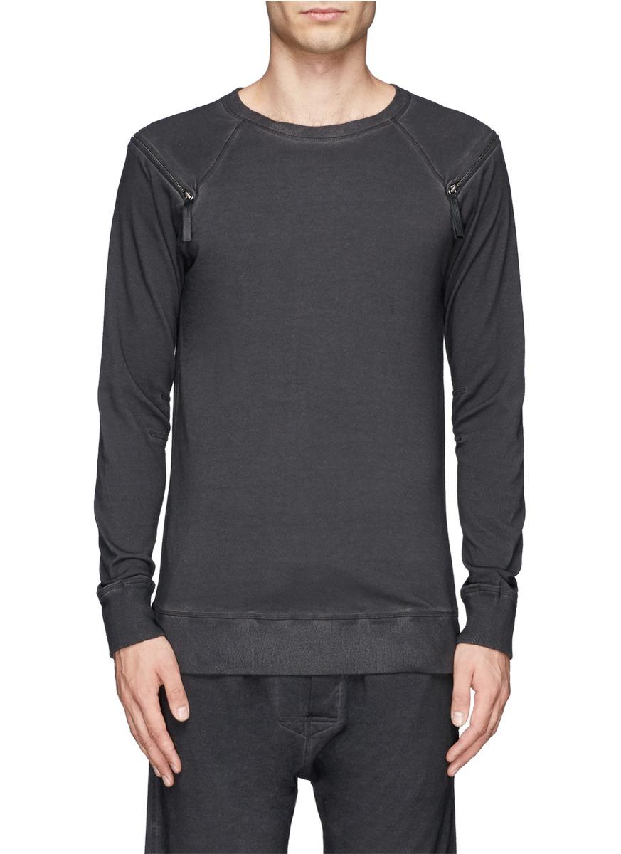 Lyst helmut lang spring french terry sweatshirt in gray - Sweatshirt kleid lang ...