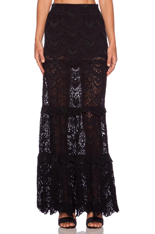 nightcap high waist maxi skirt in black lyst