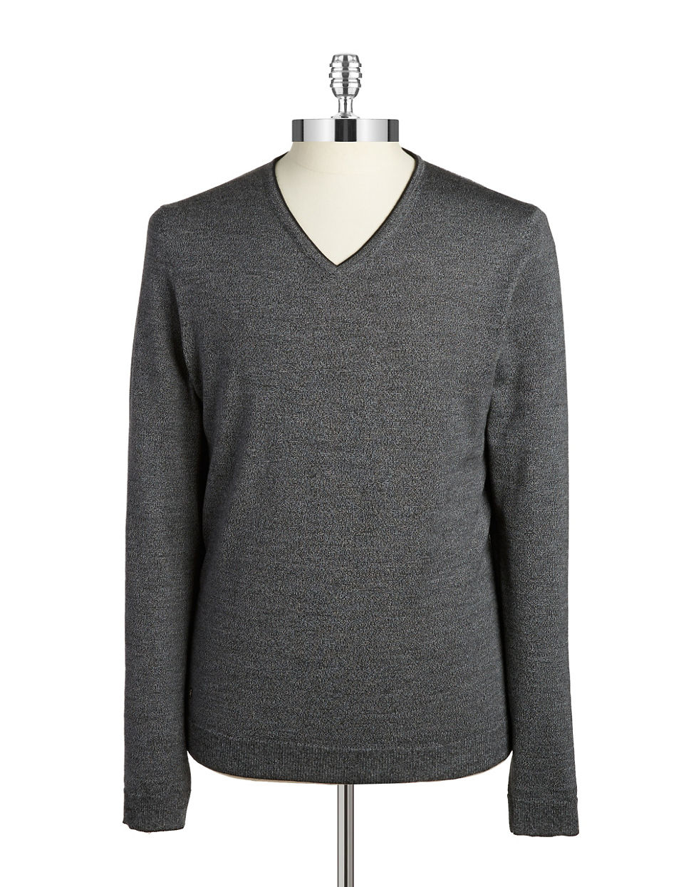 strellson slim fit merino wool sweater in gray for men lyst. Black Bedroom Furniture Sets. Home Design Ideas