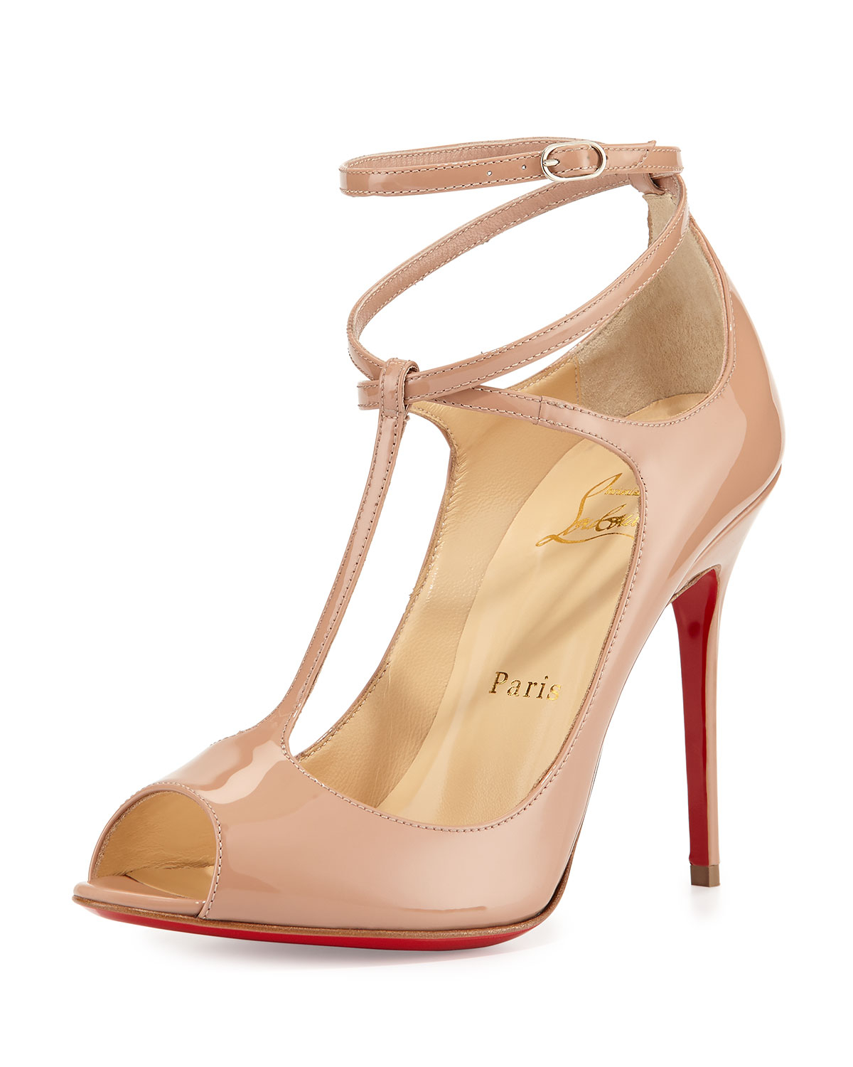 Christian Louboutin Mrs Early T Strap Red Sole Pump