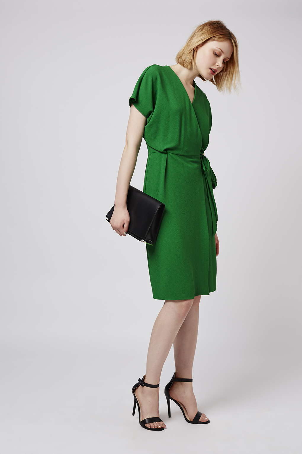 Lyst topshop wrap dress in green gallery womens wrap dresses ombrellifo Image collections