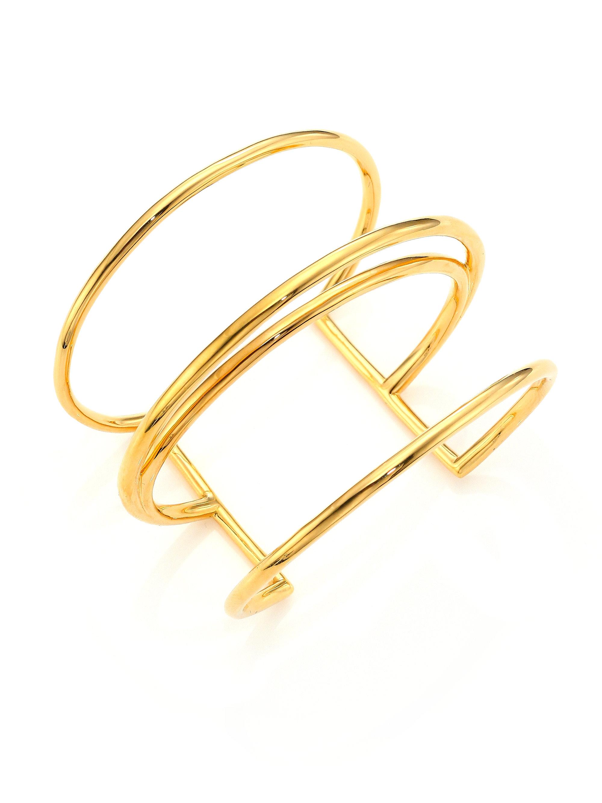 Leona Cuff in Metallic Gold Elizabeth & James vufDzE4c