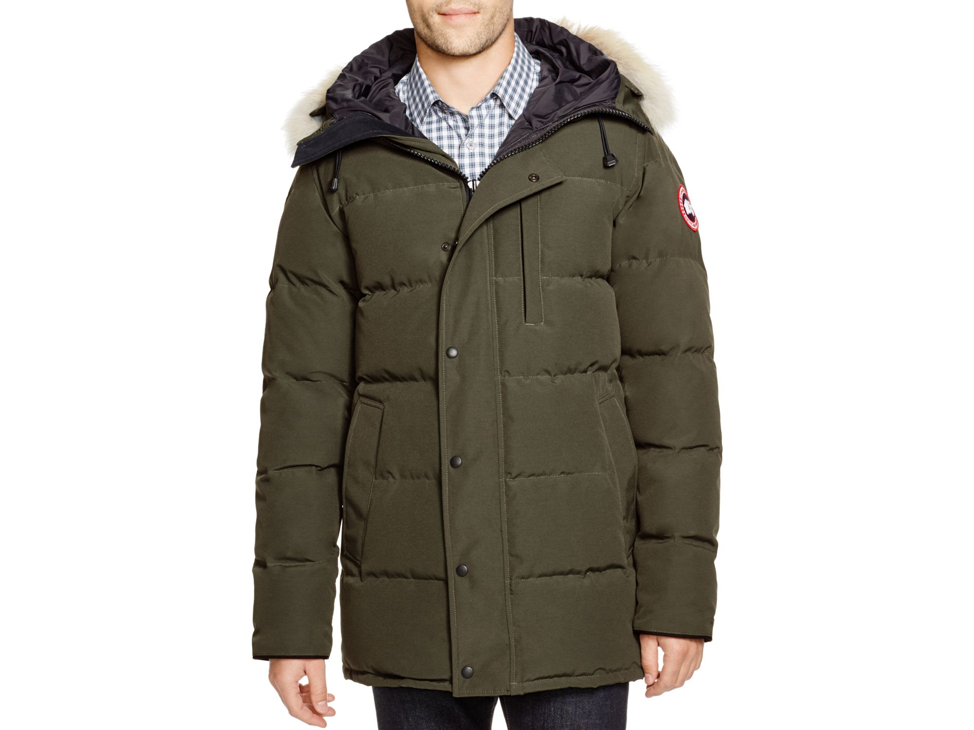 5ece6ad4baf6 ... norway lyst canada goose carson down parka in green for men 79ae2 3e24f