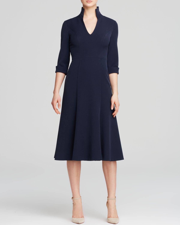 Black Halo Dress Kensington Three Quarter Sleeve V Neck