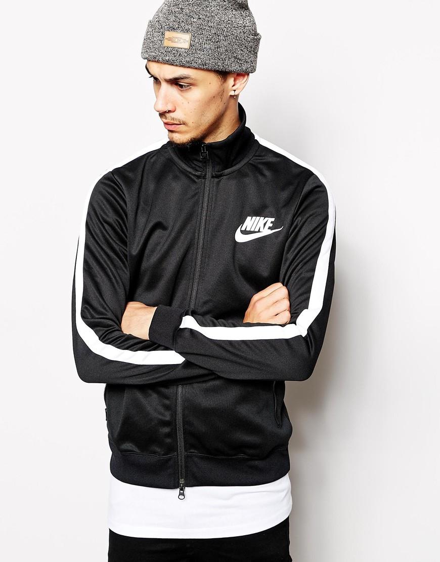 ac11114da1 Nike Tribute Track Jacket in Black for Men - Lyst
