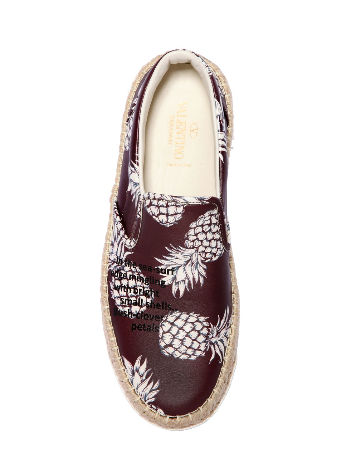 Valentino Pineapple Leather Espadrille Sneakers in Purple ...