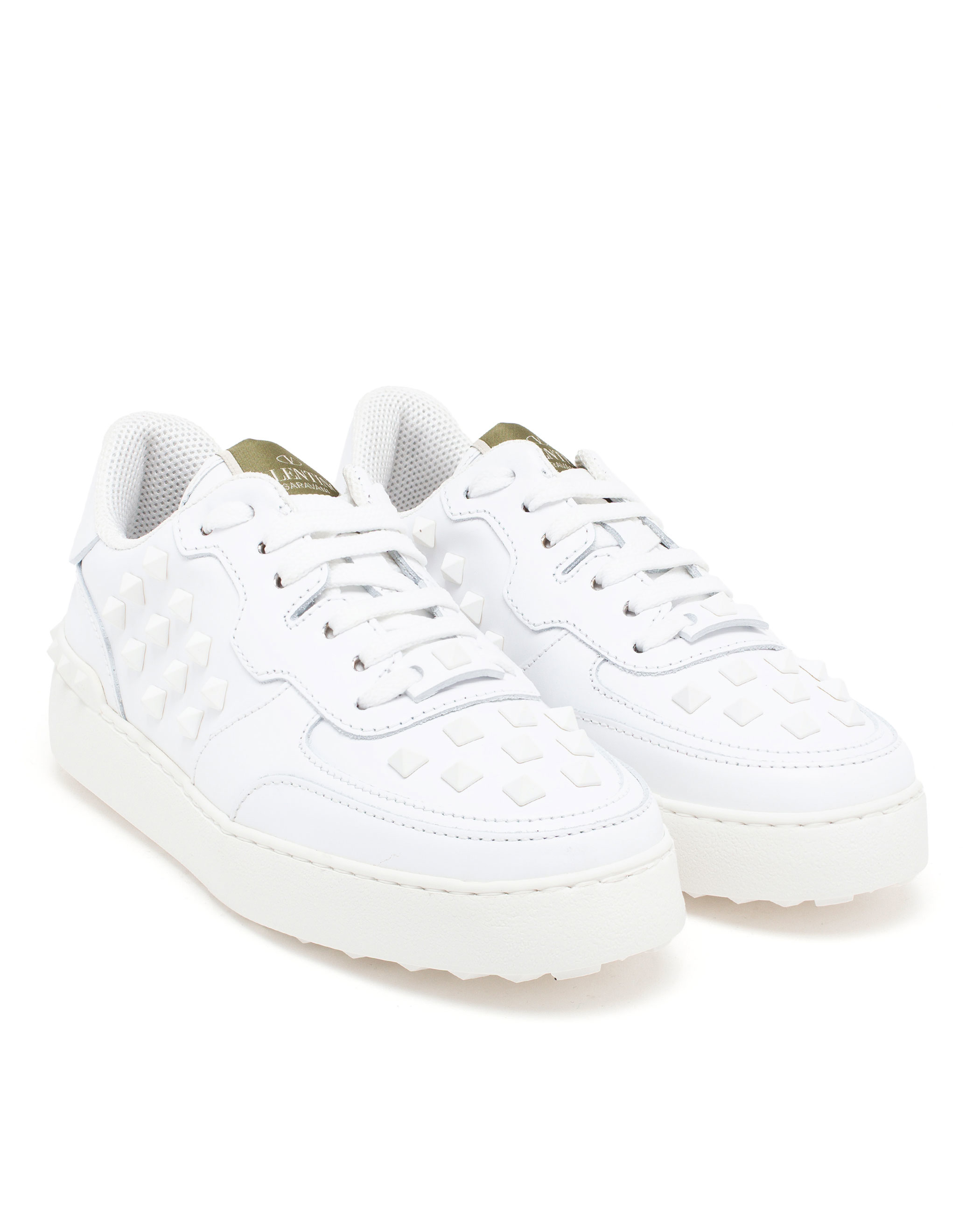 Valentino Rockstud Trainers in White - Lyst