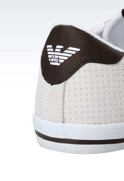 Armani Jeans Sneaker In White For Men Ivory Lyst