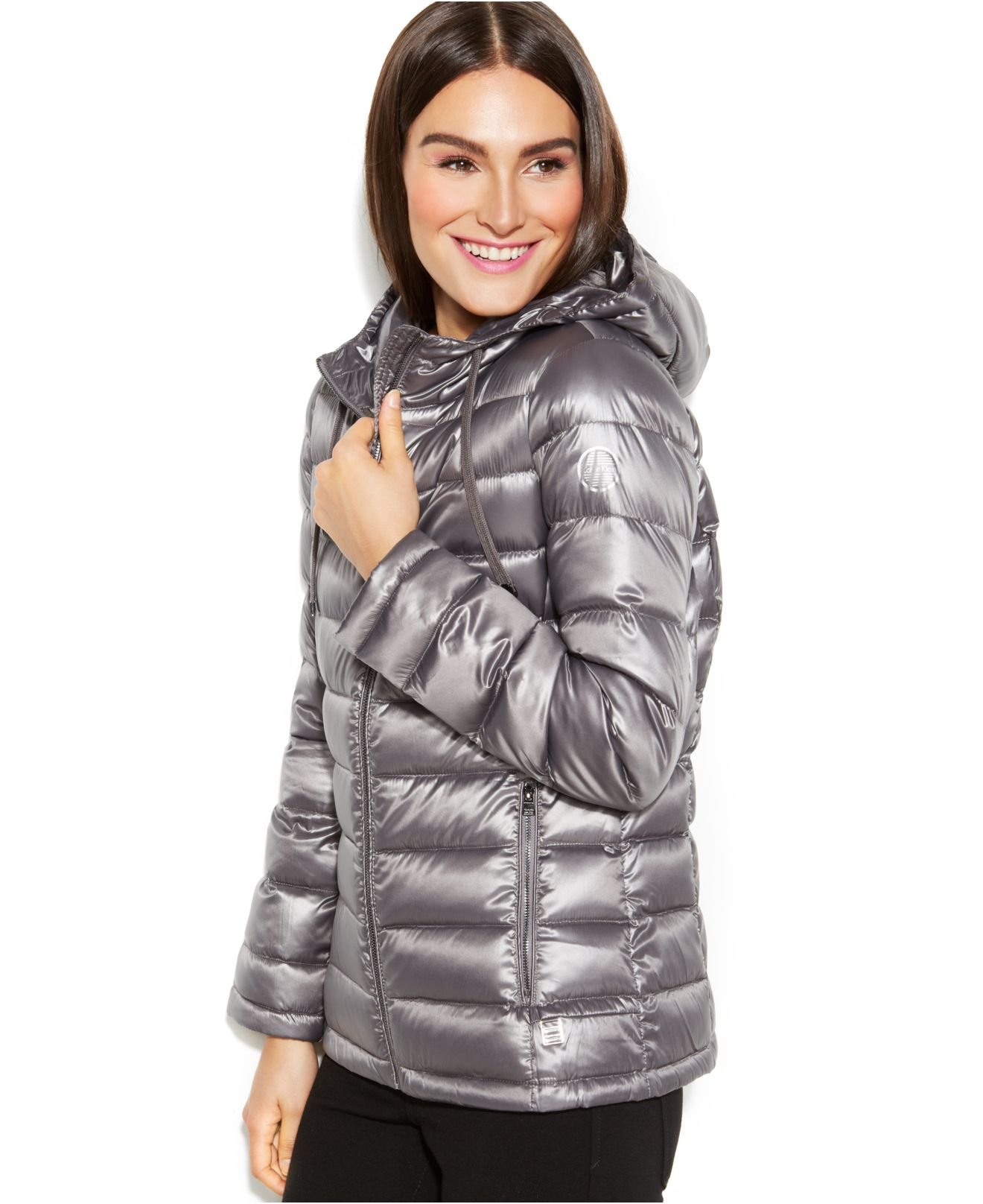 Calvin klein Petite Hooded Quilted Packable Down Puffer Coat in ...