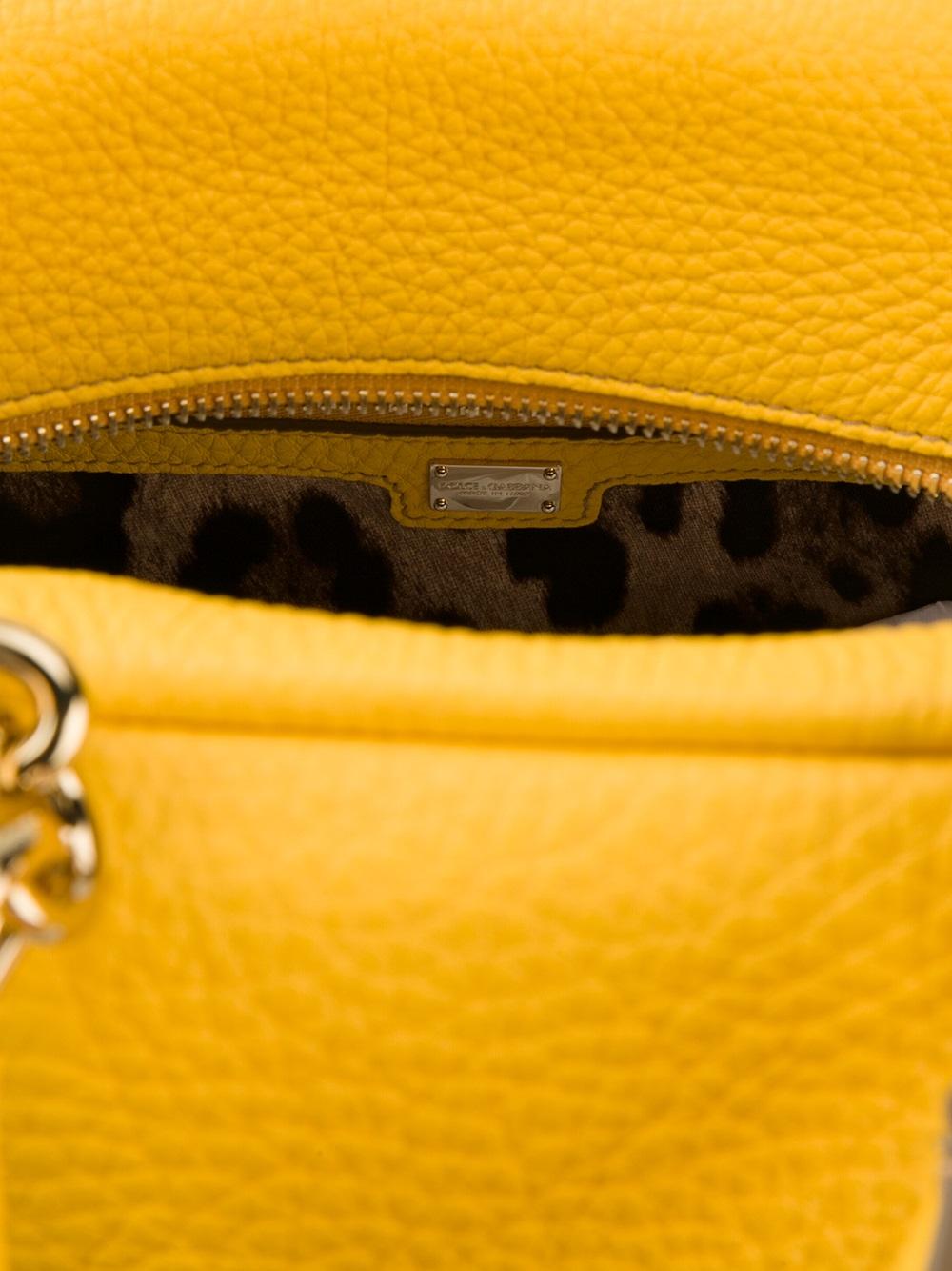 Dolce & Gabbana Doctors Bag Tote in Yellow & Orange (Yellow)