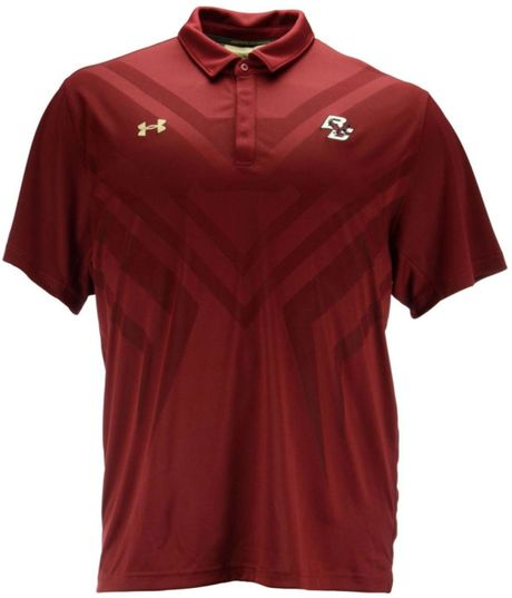 under armour big and tall boston college eagles scout polo