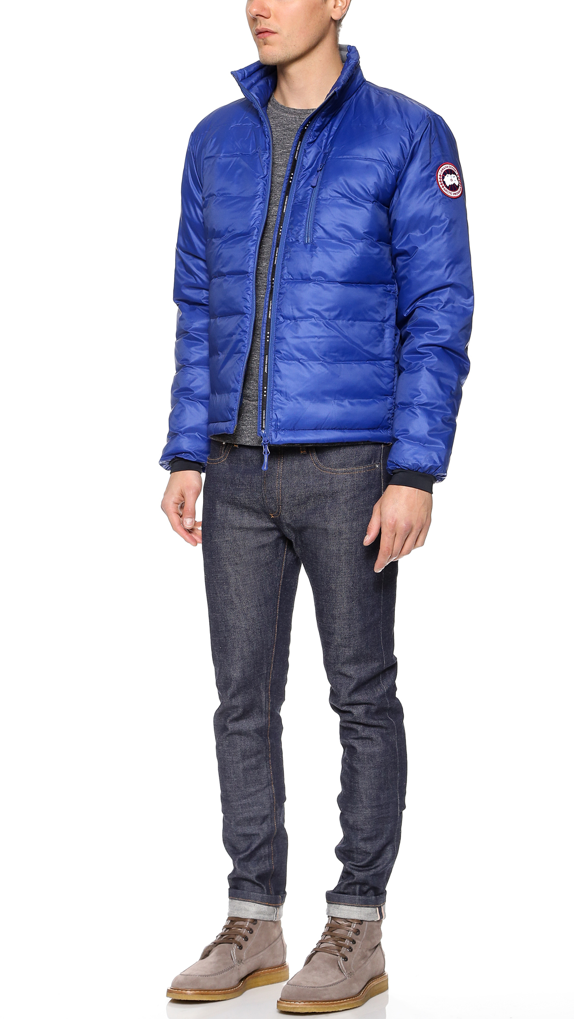 canada goose lodge jacket in blue for men