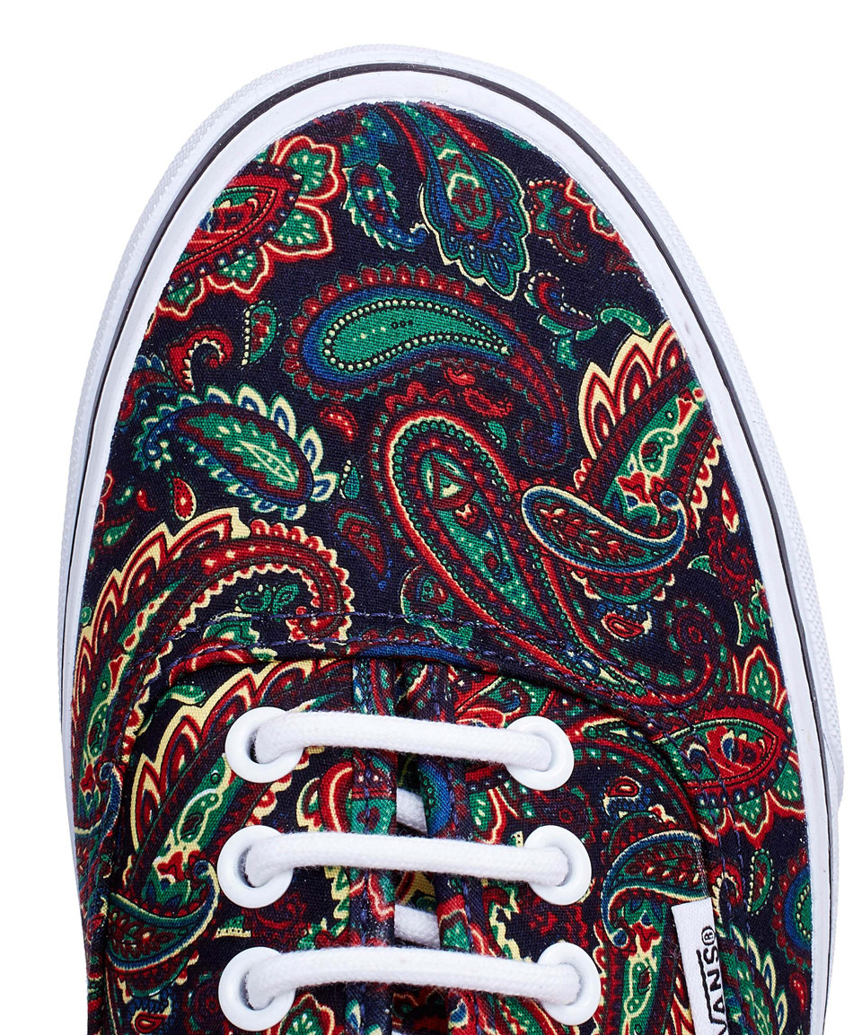 8bdfade2c919 Vans Red Paisley Authentic Skate Shoes in Red - Lyst