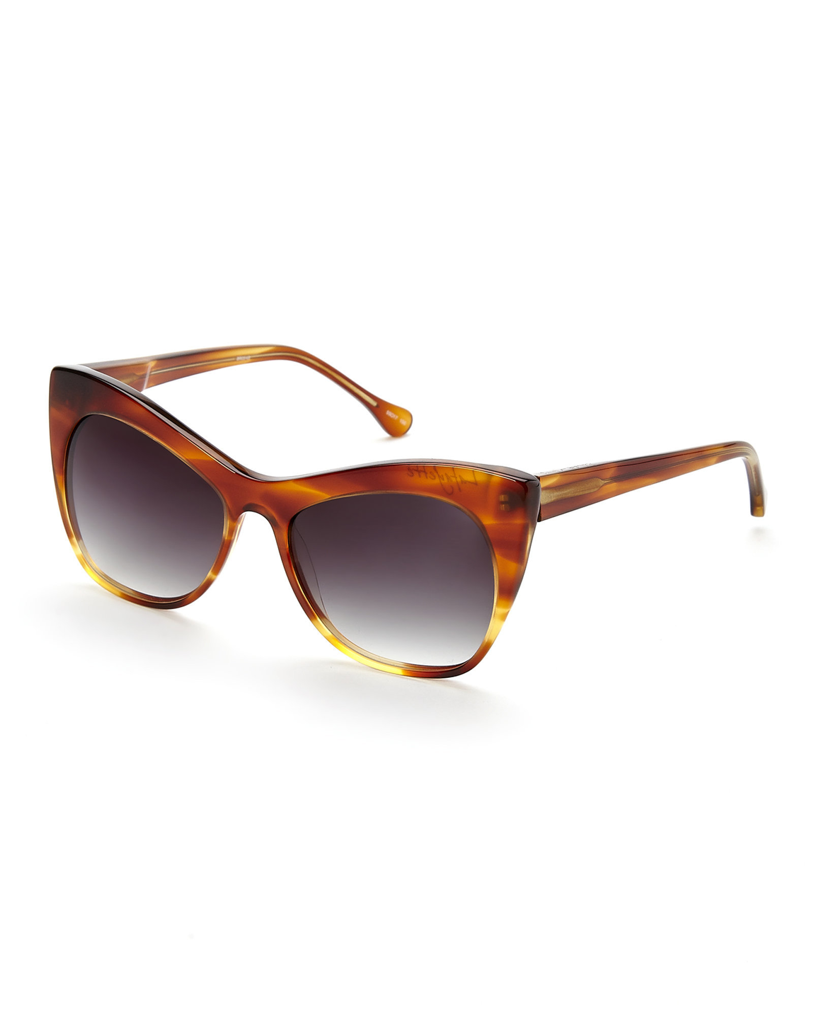 505402566e Lyst - Elizabeth and James Brown Lafayette Cat Eye Sunglasses in Brown