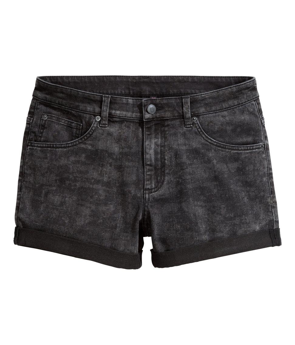 Hu0026m Denim Shorts in Black for Men | Lyst