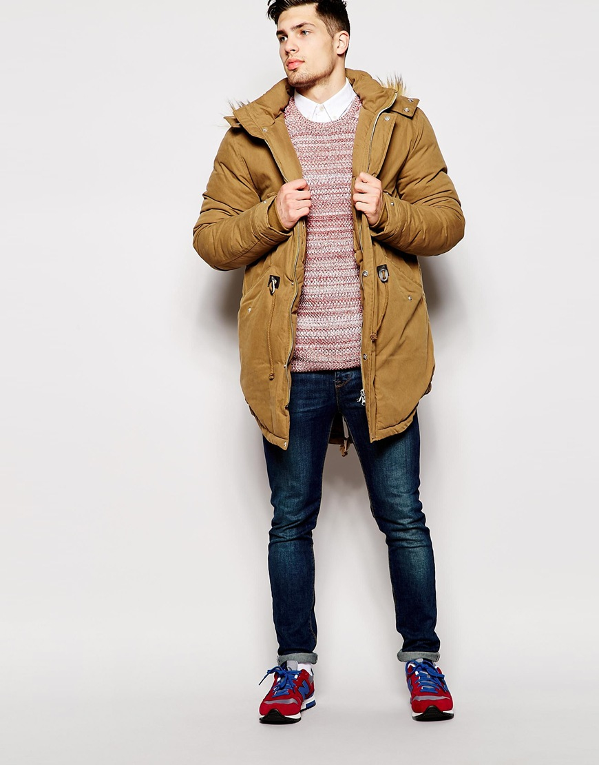 Beige Parka Jacket Mens