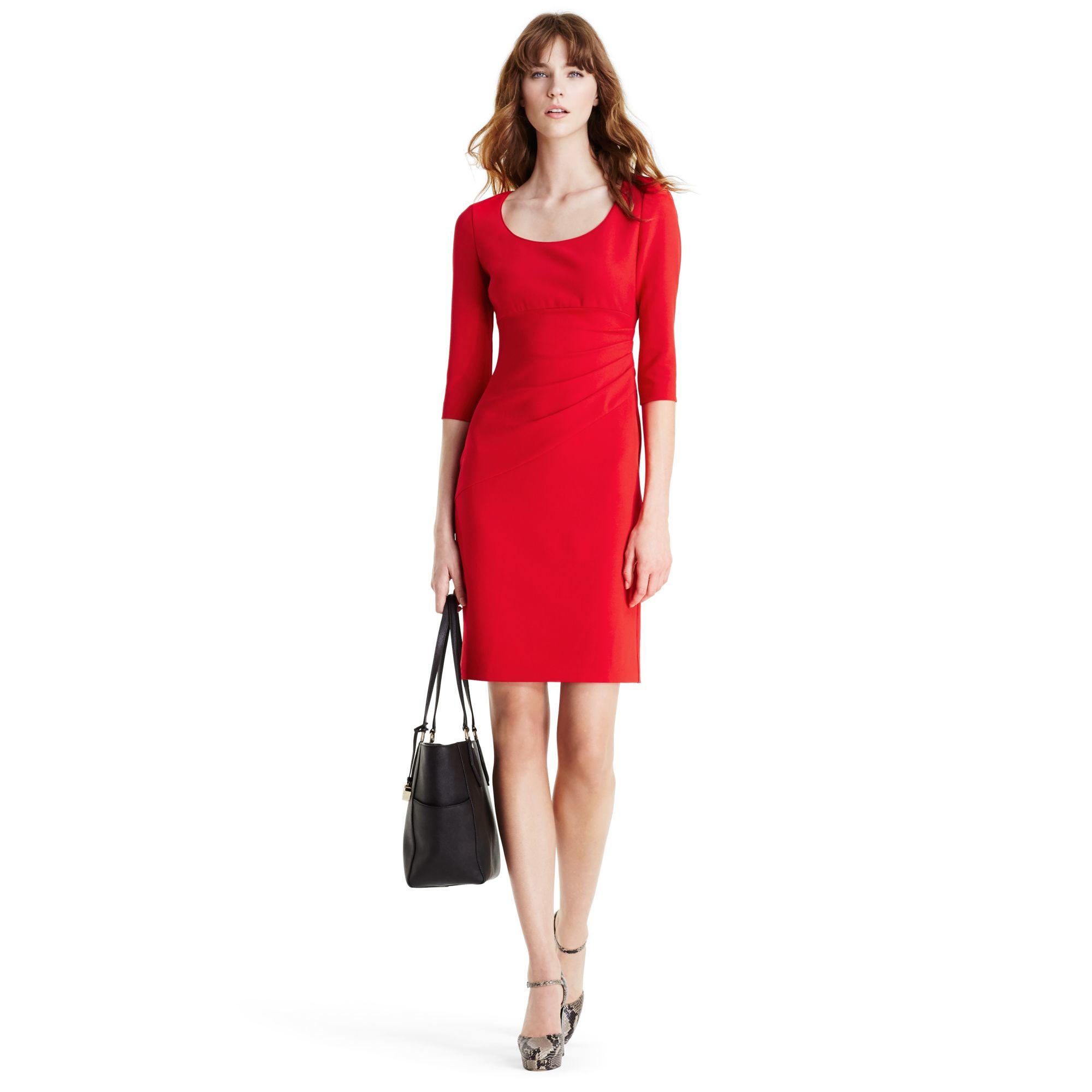 Diane von furstenberg Dvf Eliana Ceramic Sheath Dress in Red  Lyst