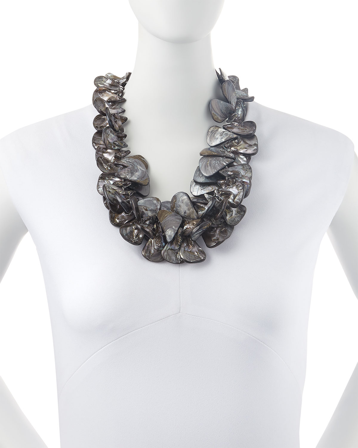 017ffa01c6e01 Nest Gray Mother-of-pearl Cluster Necklace