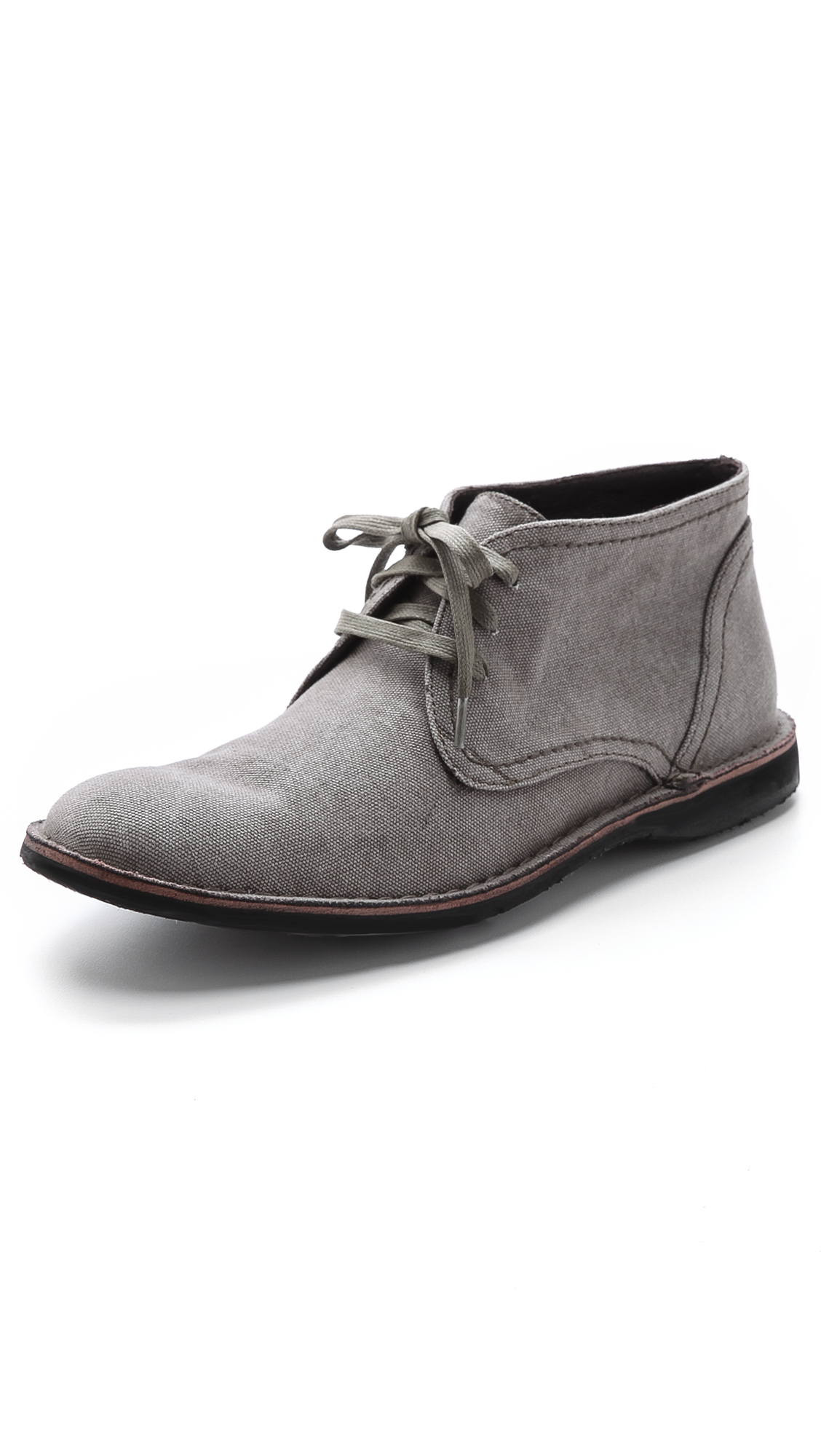 John varvatos Hipster Laceless Chukka Boots in Gray for Men | Lyst