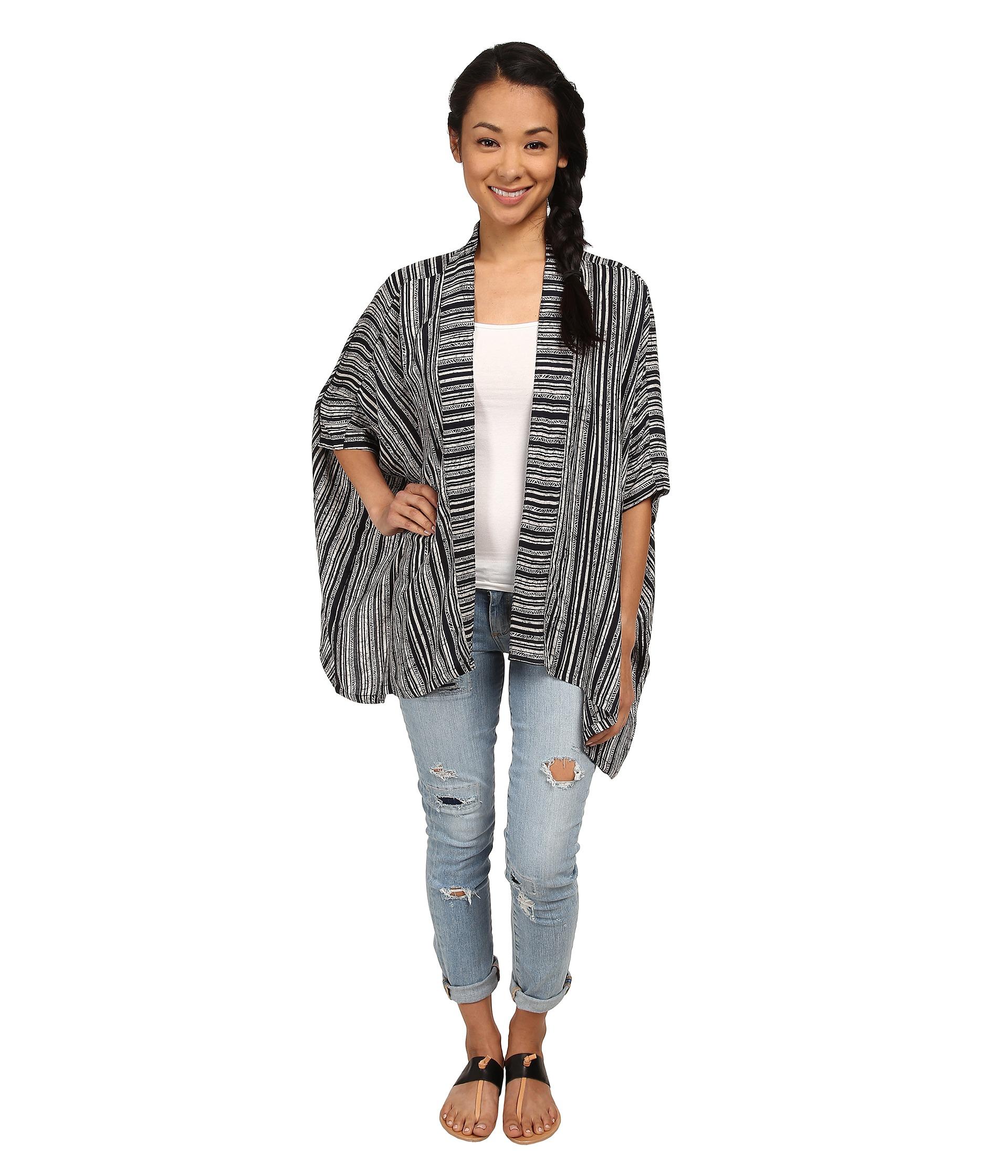 930fb2d652 Lyst - RVCA Woo Would Kimono in Black