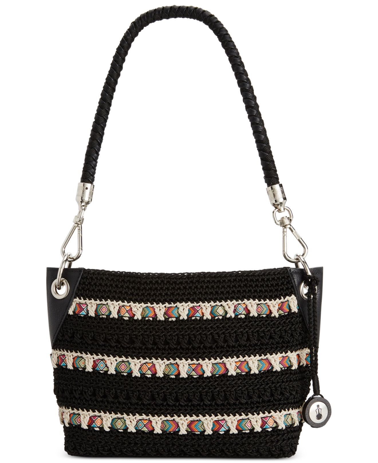 The Sak Bags Crochet : The sak Portola Crochet Hobo in Black Lyst