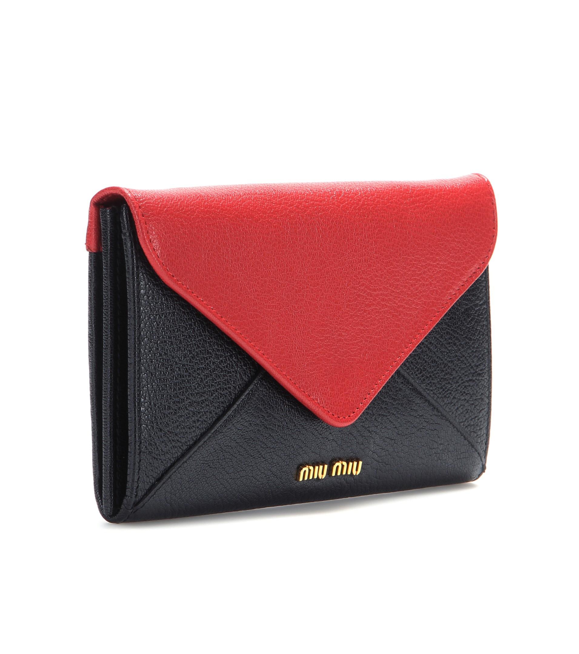 Miu Miu Madras leather flap wallet RdrVtKwx1