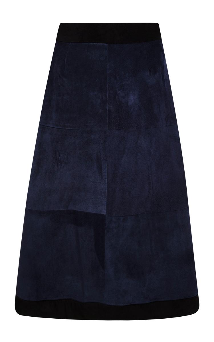 sea suede wrap skirt in blue lyst