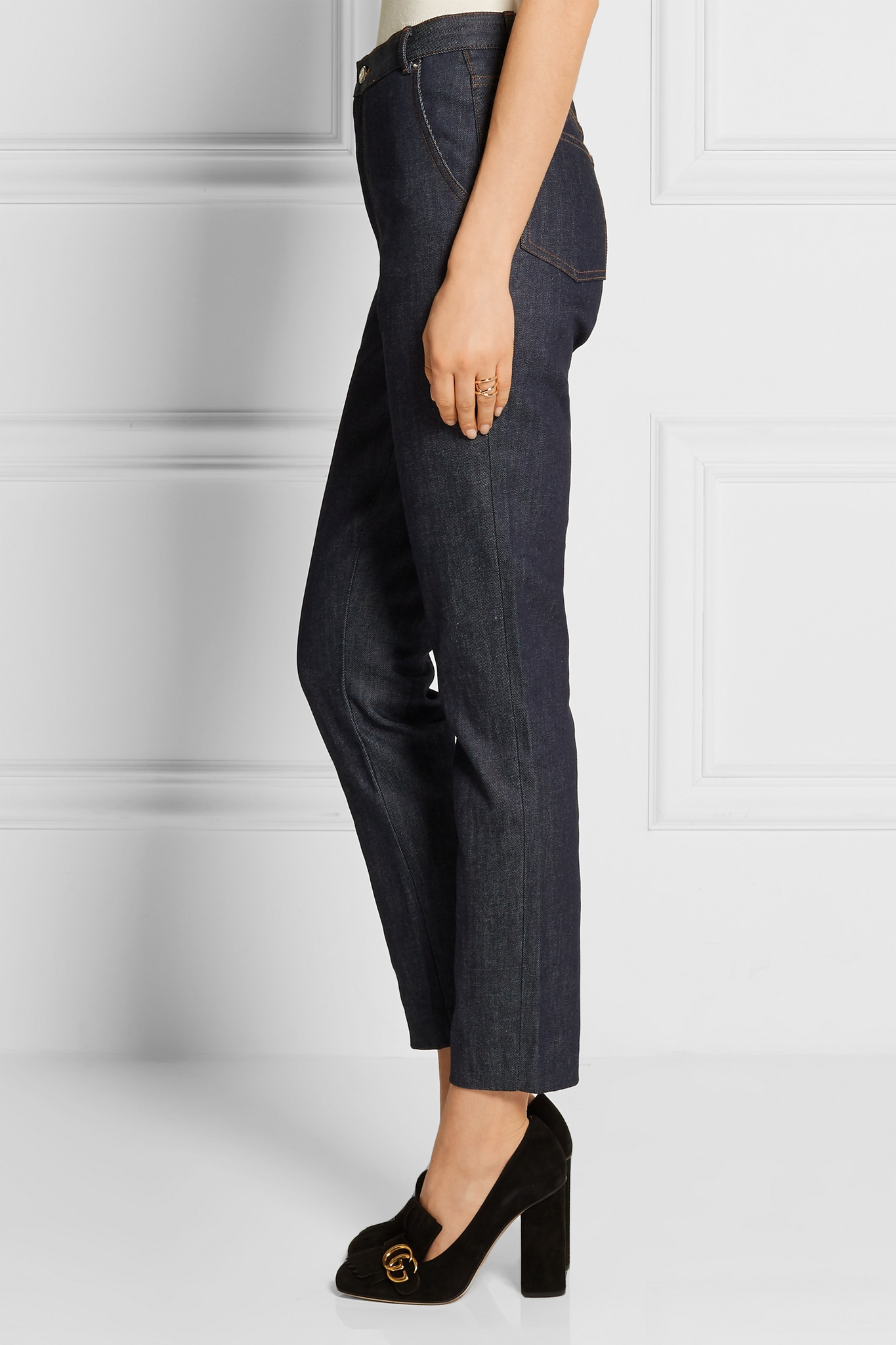 Vanessa Seward Denim Victoire High-rise Slim-leg Jeans in Dark Denim (Blue)