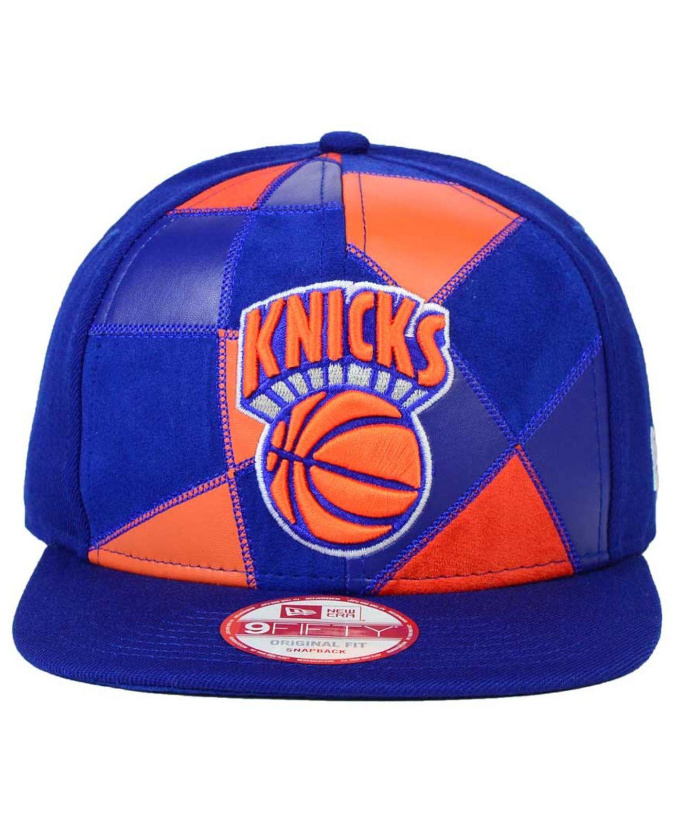 newest 9b940 882dc ... sale lyst ktz new york knicks hwc cut paste 9fifty snapback cap in  f2be8 20bdb