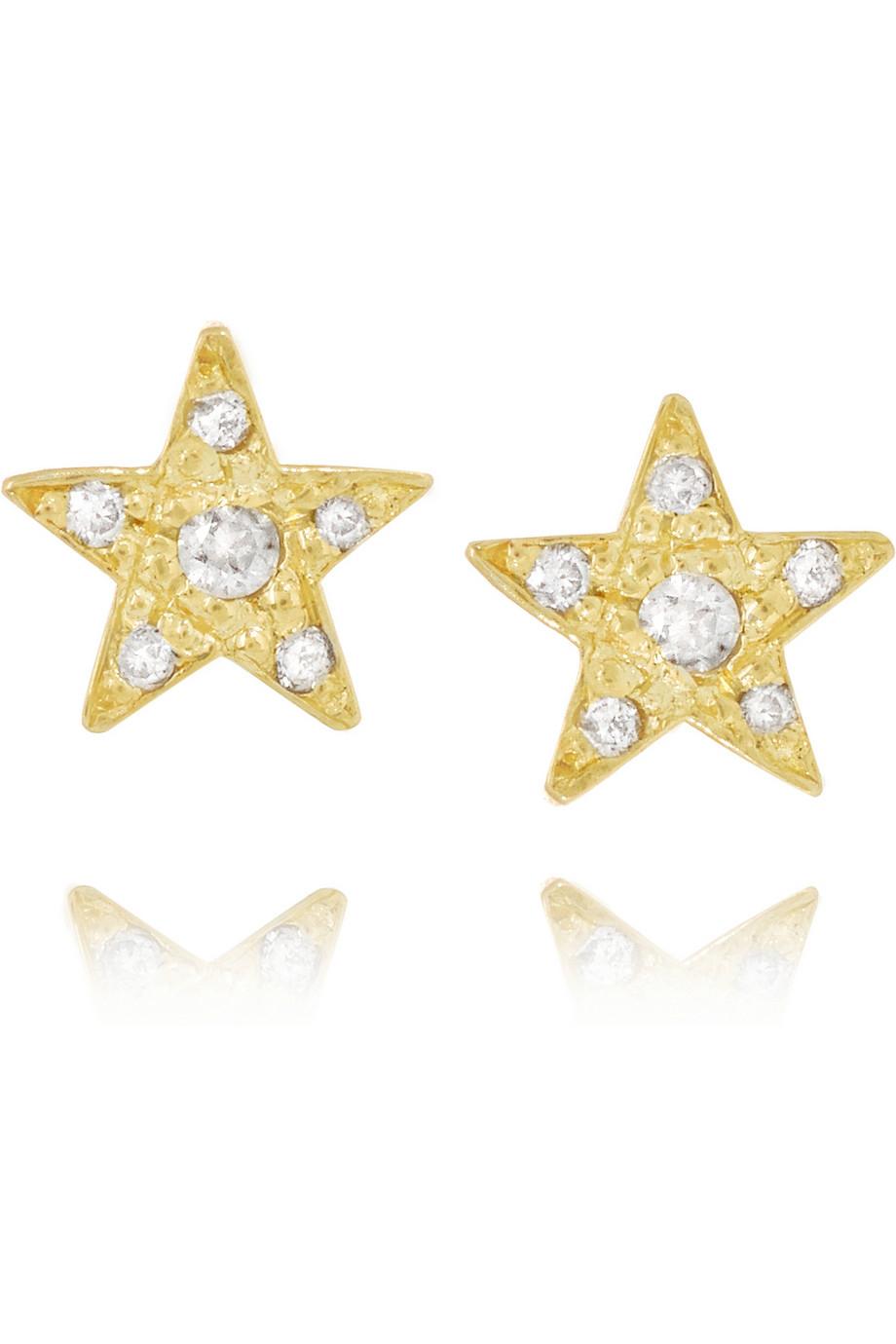 Jennifer Meyer Star 18-karat Gold Earrings fproq