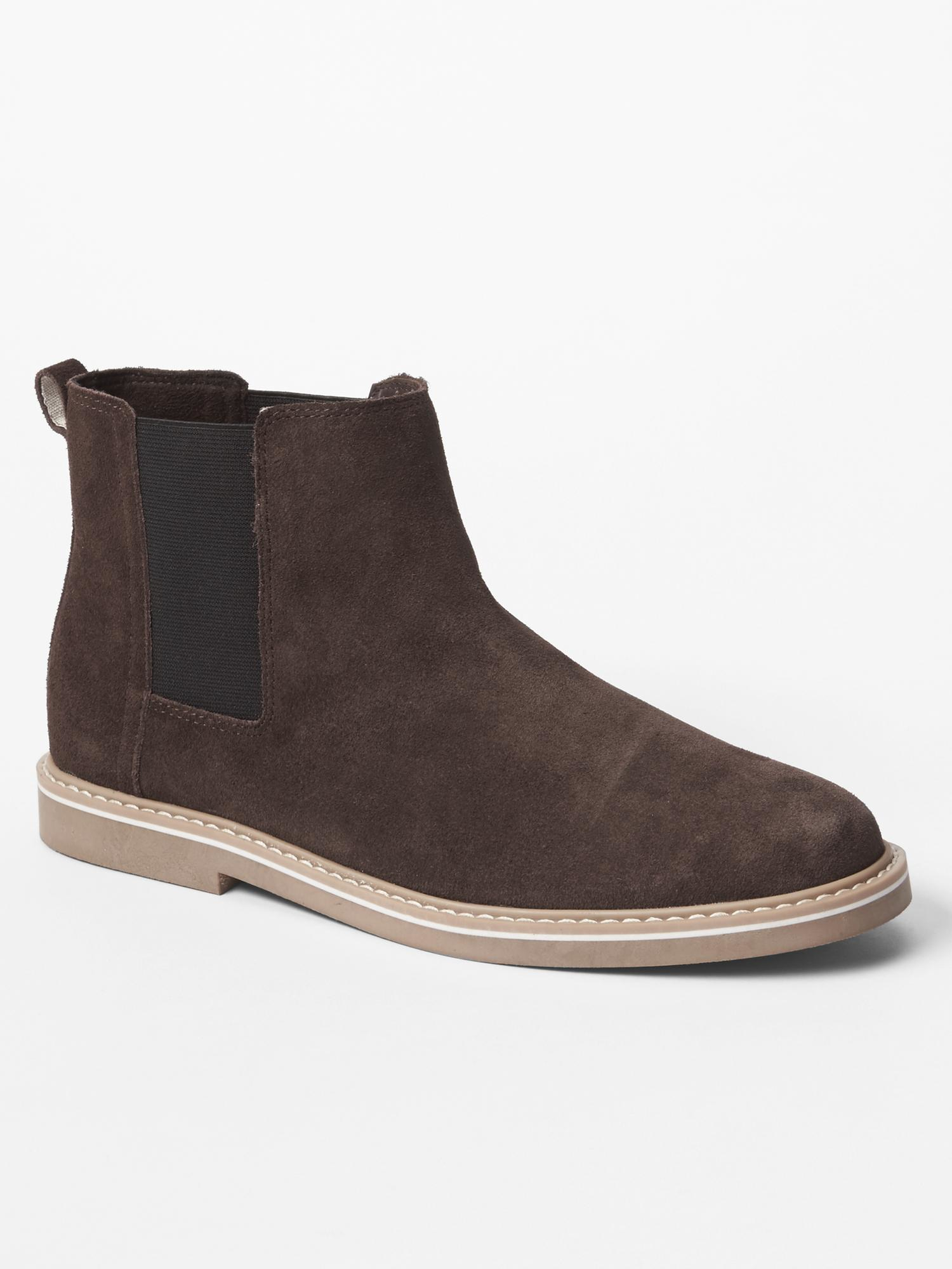 gap chelsea boots in brown for brown lyst