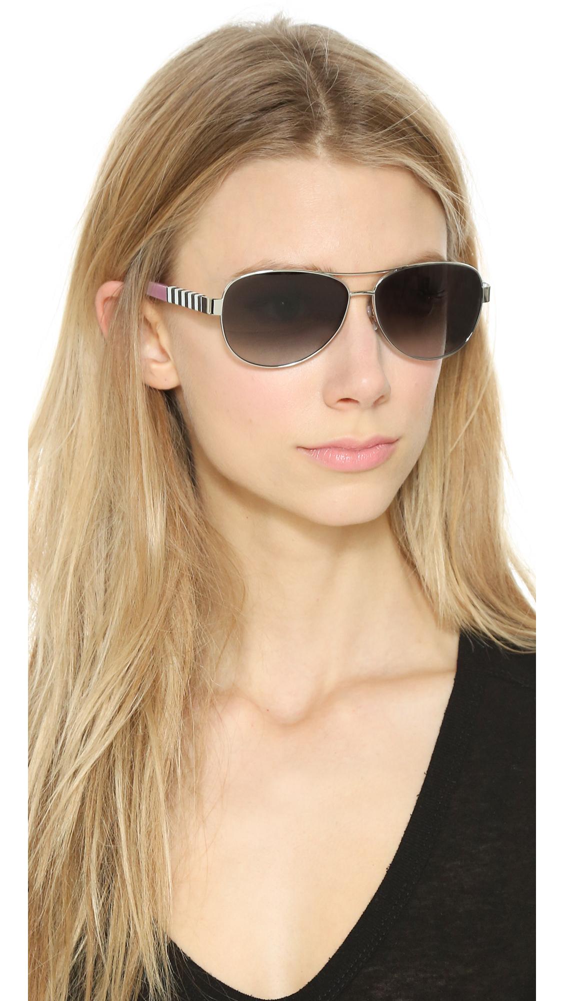 41995638c9b2 Kate Spade Dalia Sunglasses - Silver/grey Gradient in Metallic - Lyst