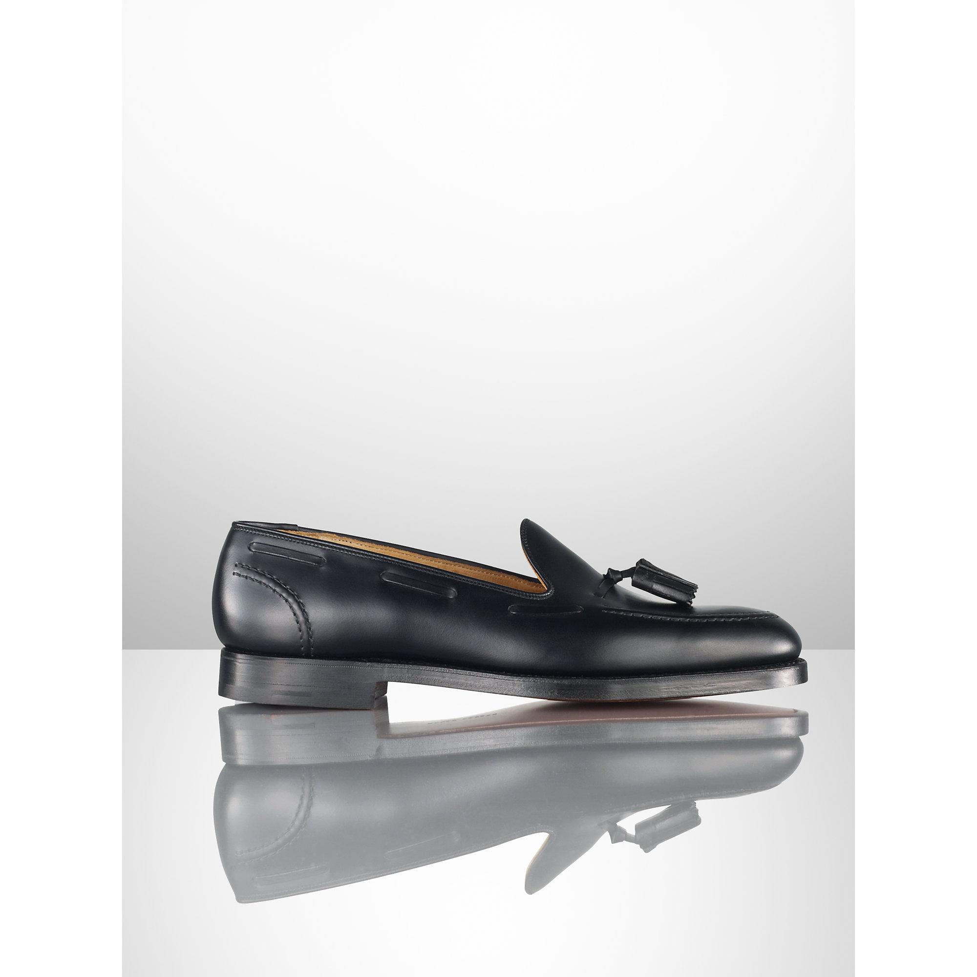 949e1b809b3 Lyst - Ralph Lauren Marlow Calfskin Tassel Loafer in Black for Men
