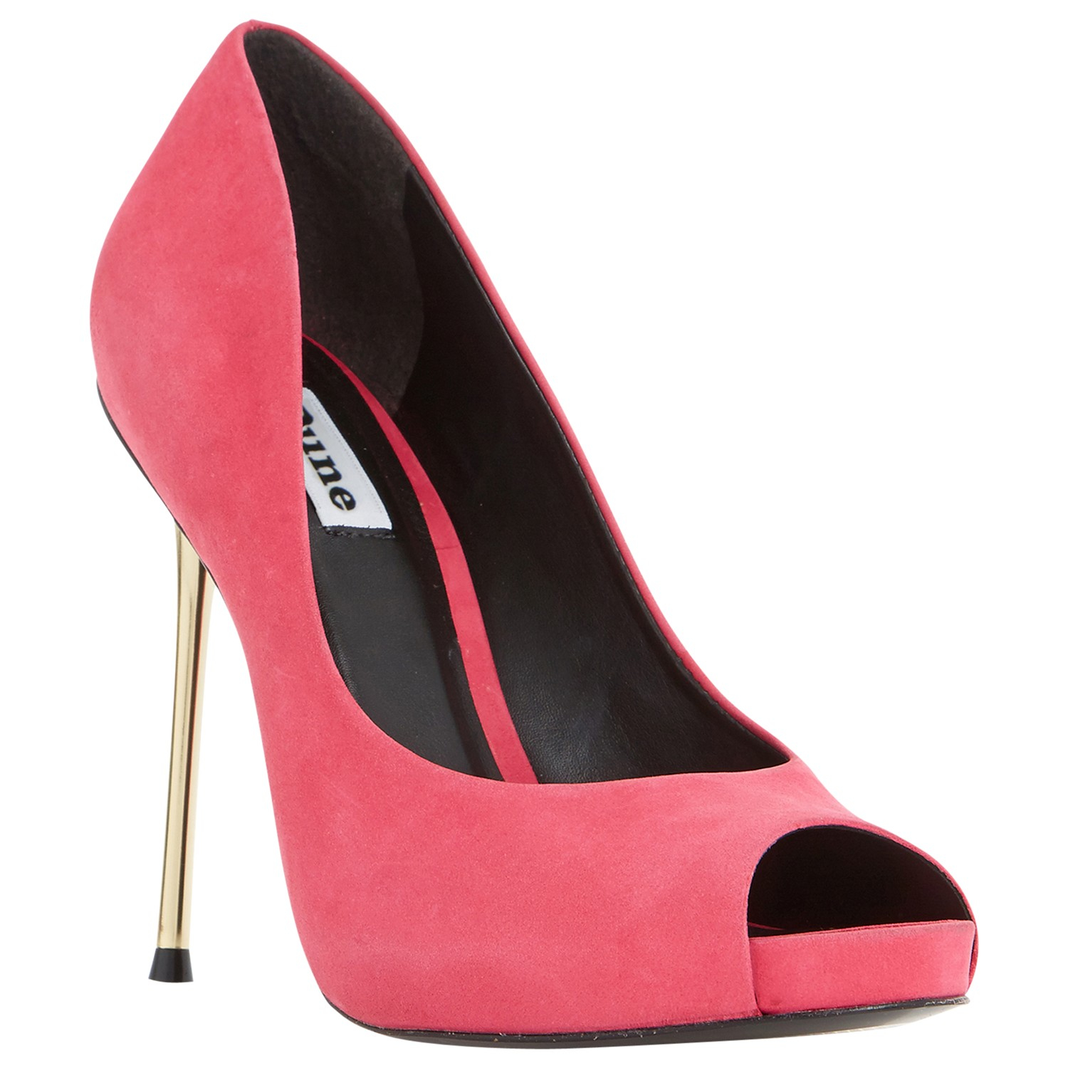 dune desiree peep toe stiletto court shoes in pink lyst