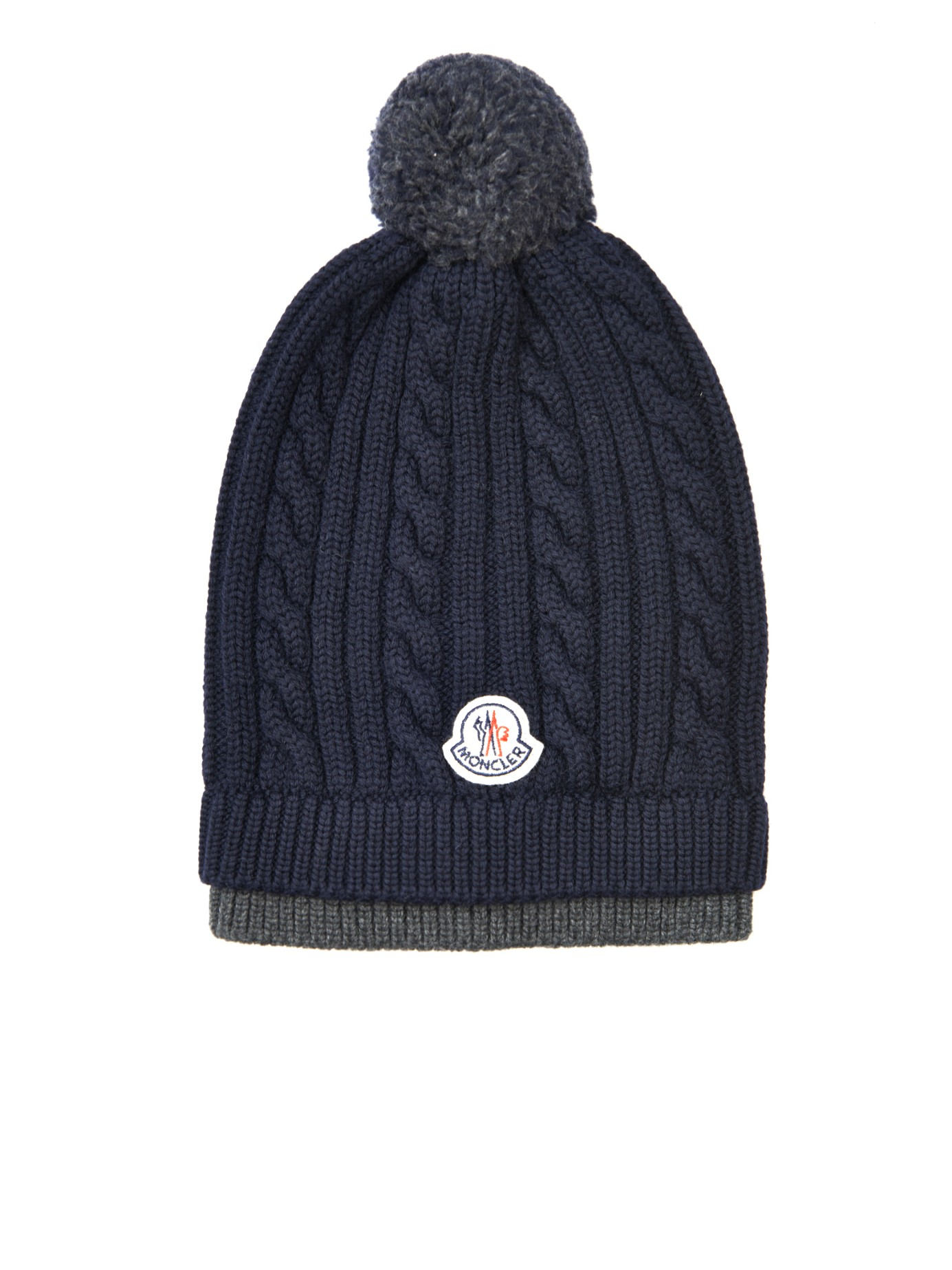 Moncler Cable-Knit Wool Beanie Hat in Blue for Men - Lyst 5b7c24528bef