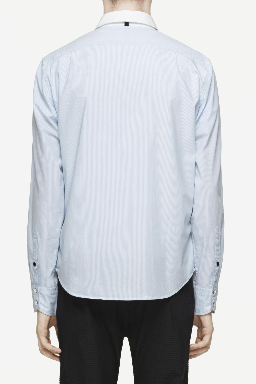 Rag bone placket shirt in blue for men lyst for Rag bone shirt