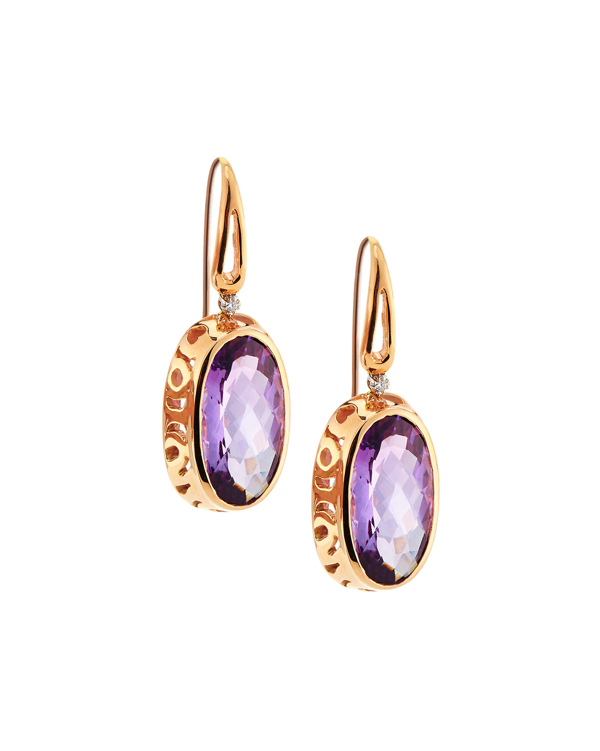 Lyst Roberto Coin Mauresque Amethyst Drop Earrings In Pink
