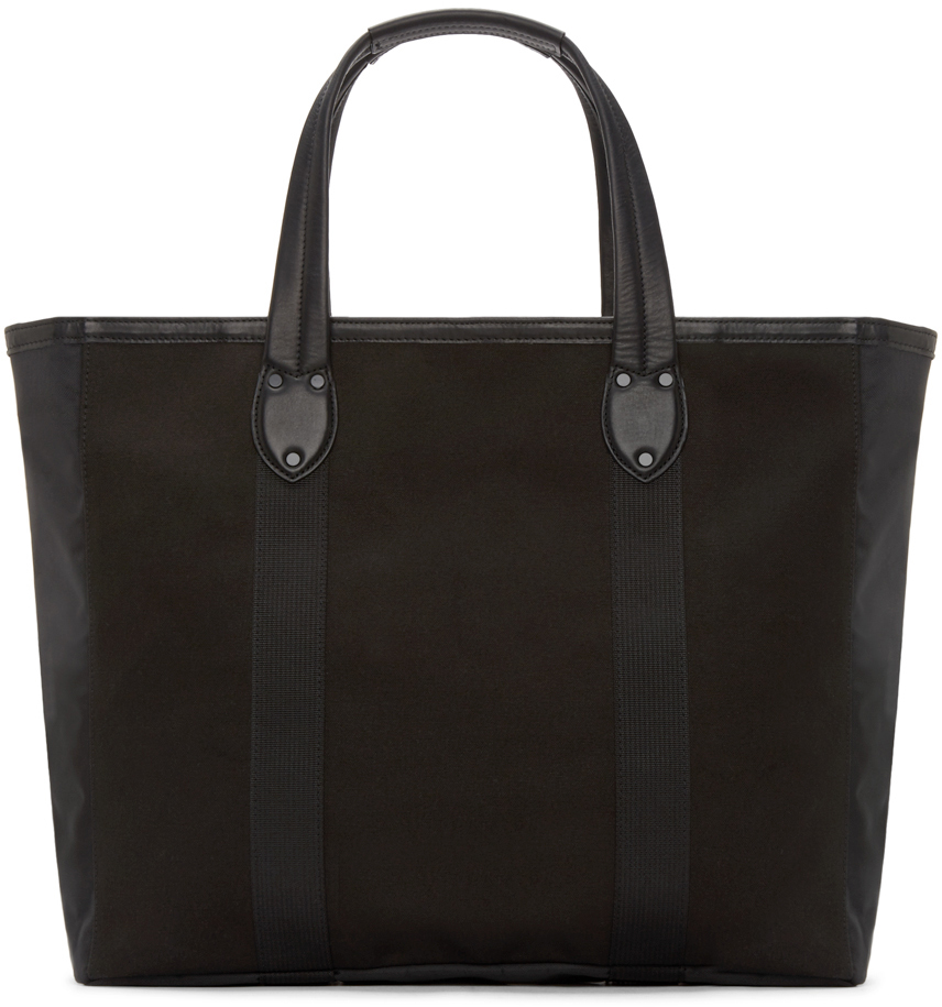 Rag & Bone Black Canvas Derby Tote Bag for Men