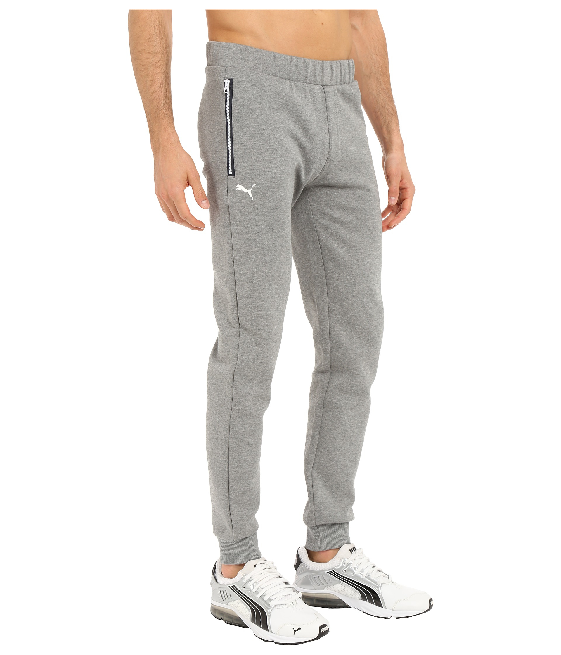 Puma Bmw Msp Sweat Pants Closed In Gray For Men Lyst