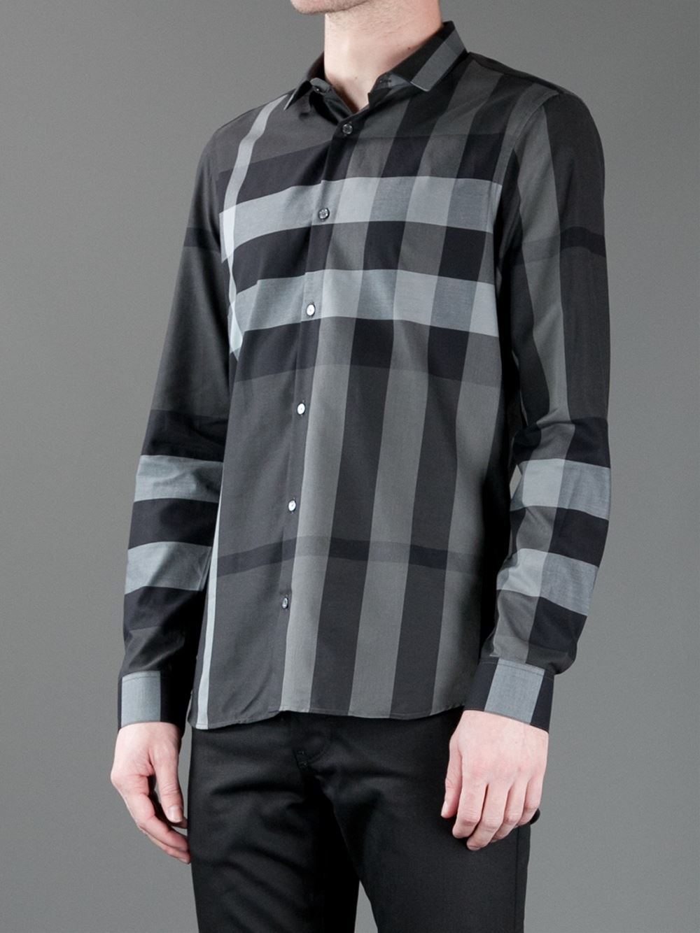 168974e89cee Burberry Pembury Shirt in Black for Men - Lyst