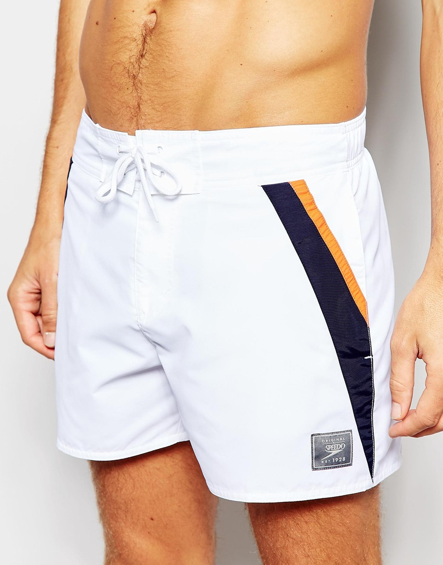 d5d11fca74 Speedo Retro Leisure 14 Inch Swim Shorts in White for Men - Lyst