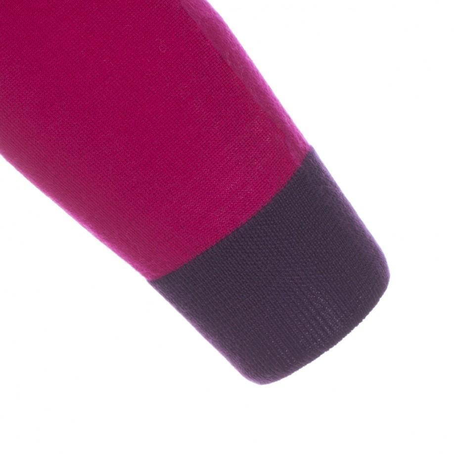 Paul Smith 531 Dark Purple Merino Wool Cycling Sweatshirt With Reflective Panels for Men