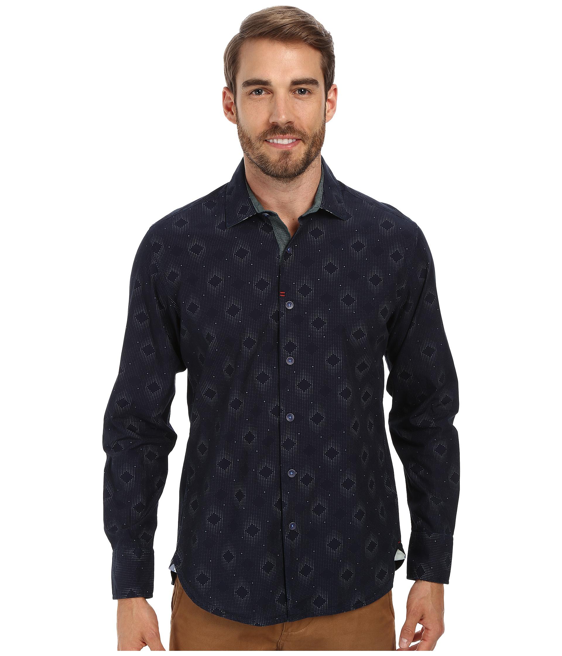 Robert Graham Los Cabos Long Sleeve Woven Shirt in Black ... Robert Graham Designer