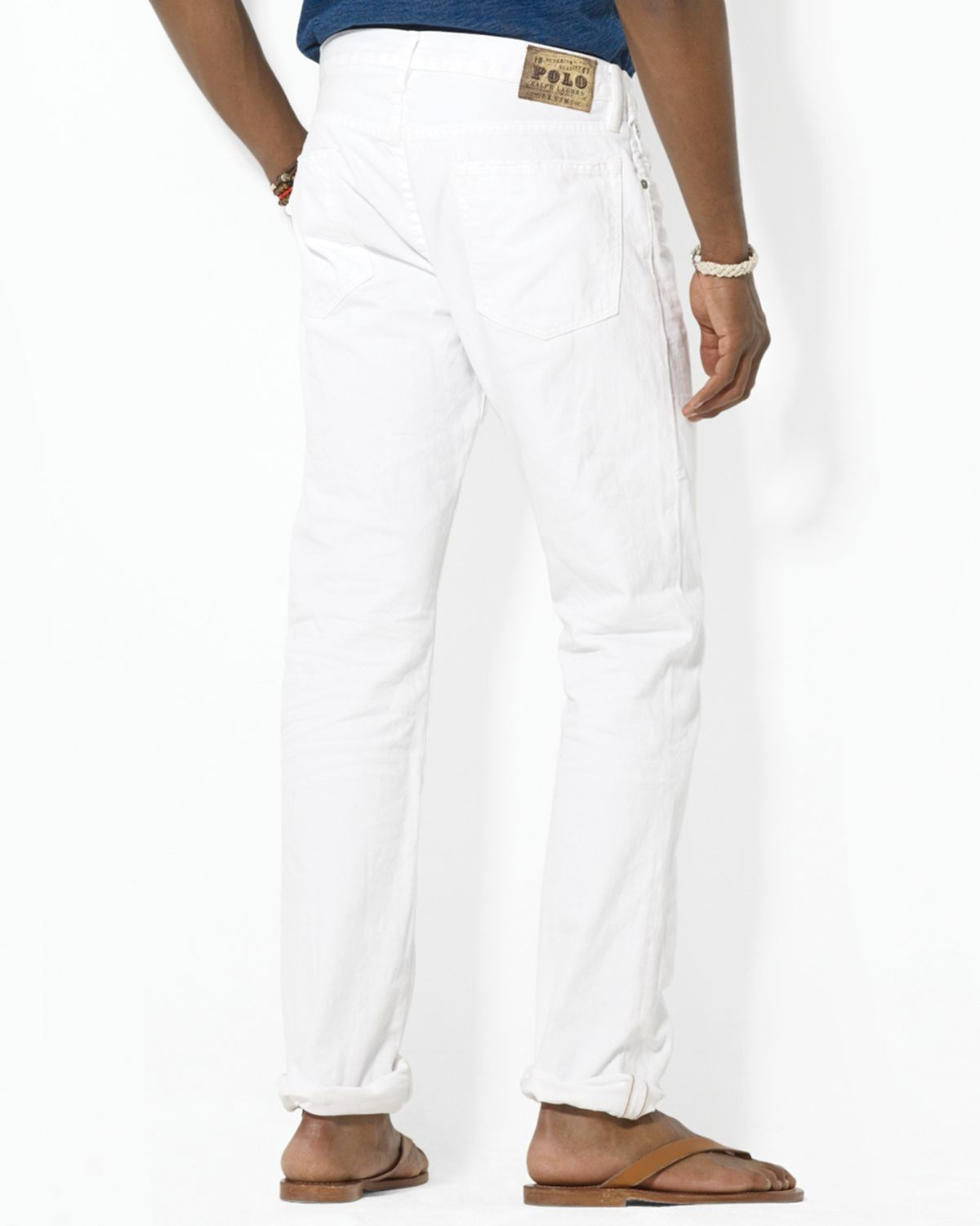 70e55200 Ralph Lauren Varick Slim Fit Hudson White Jean for men