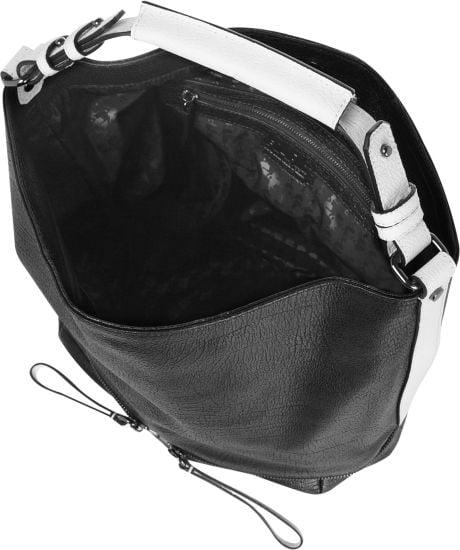 Karl Black Textured Leather Shoulder Bag 18