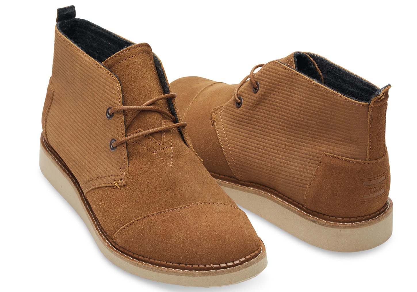 Toms Chestnut Brown Embossed Suede Men's Mateo Chukka Boots in ...
