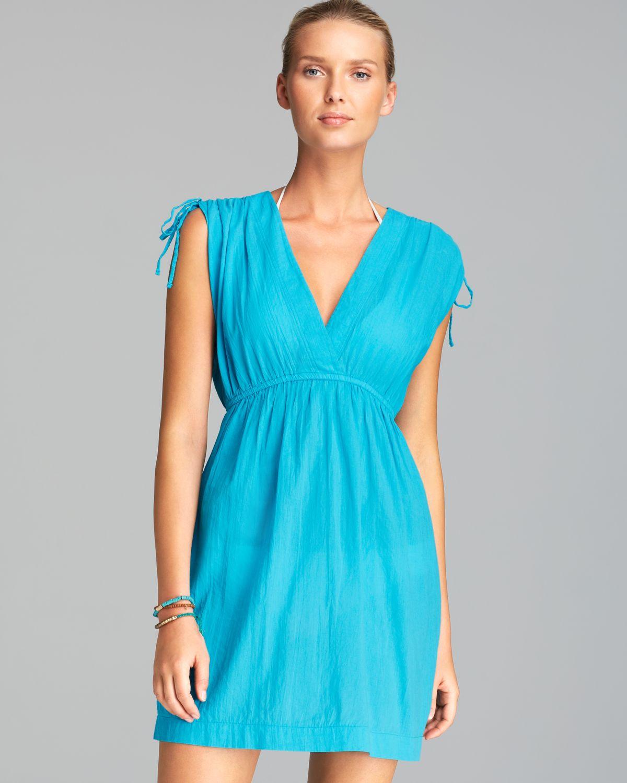 53831af00d Ralph Lauren Lauren Crushed Farrah Swim Cover Up Dress in Blue - Lyst